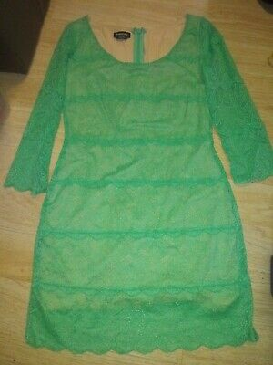 Bebe Green / Teal Dress Size Large New Without Tags