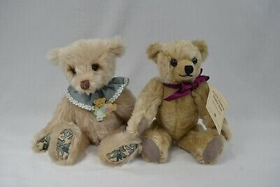 2 x Collector's Teddy Bears one by Past Times Limited Edition 100% Mohair