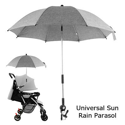Sun Umbrella Parasol Buggy Pushchair Baby Kids Pram Stroller UV Sunshade Canopy