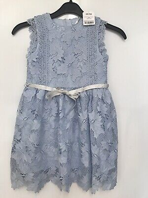 Next Girls Light Blue Lace Party Prom Dress Age 7