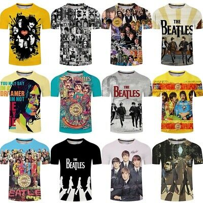 The Beatles Abbey Road T-shirt Classic Music Album Rock Tops Tee Youth