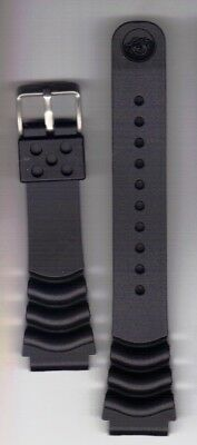 22mm Replacement Rubber Silicon Divers Strap Z-22 Brushed Stainless Seiko