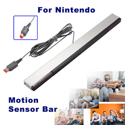 Wired Infrared IR Signal Ray Sensor Bar Receiver For Nintendo Wii / Wii U AC1596