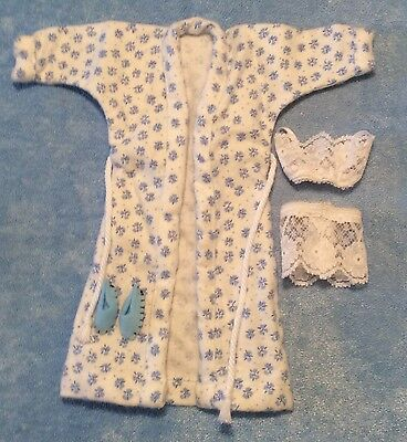White Blue Fashion Doll Pjs Handcraft Dolls Clothes Pajamas Slippers Dollhouse