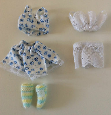 Fashion Doll Lingerie Barbie Clothes Set Underwear Bra Panties Slipper Dollhouse