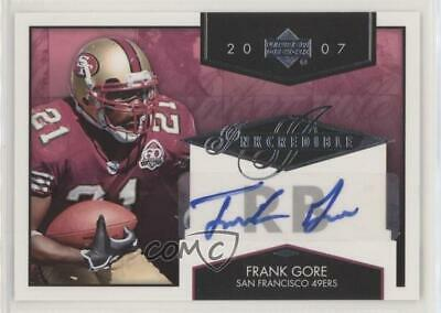 2007 Upper Deck Inkcredible #INK-FG Frank Gore San Francisco 49ers Auto Card