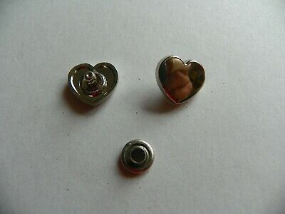 20 x HEART SHAPED CONCHOS 10x3mm SILVER COLOURED