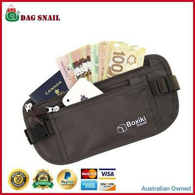 RFID Travel Waist Bum Bag Anti Theft Pouch Belt Passport Holder For Men & Women