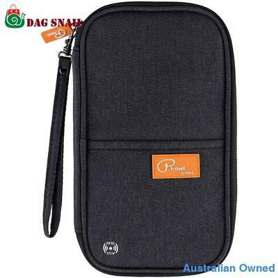 Wallet Holder Cover RFID Travel Passport Case Card Wallet Black