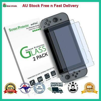 AMFILM Tempered Glass Screen Protector Nintendo Switch 2017 2 Pack NEW