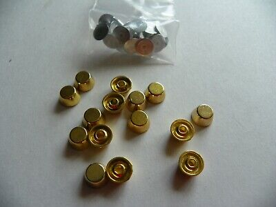 15 x FLAT TOP DOME SHAPED STUDS 8X5mm GOLD COLOURED
