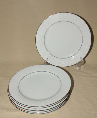 "6 Noritake Contemporary Fine China 2585 Tahoe 8 1/4"" Salad / Luncheon Plates"