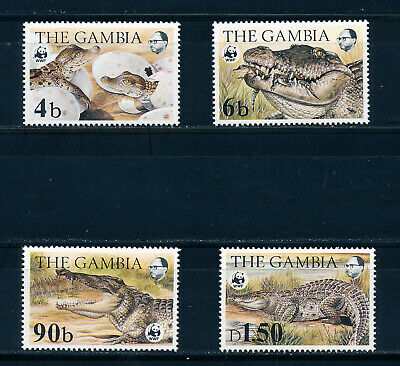 Gambia 1984 World Wildlife Fund Sg544/547+Ms548 Mnh