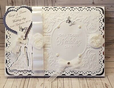 Wedding Card Personalised Large Handmade 8x8 inch 3D Bespoke card and box