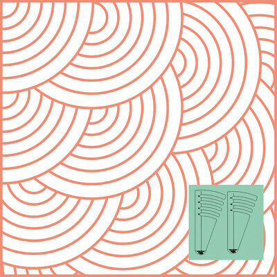 """Westalee Design Circles on Quilts Template Set 4 (12"""" - 18"""")"""