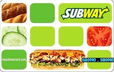 Subway 2008 Always Fresh Limited Edition Rare Bilingual Collectible Gift Card