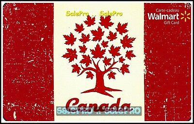 Walmart Canadian Maple Leaf Tree Of Life Fr/Eng #Fd41500 Collectible Gift Card