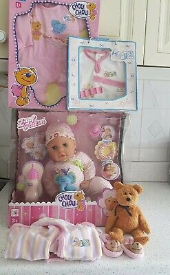 "BNIB Zapf Creation Chou Chou Teething Doll 19"" Doll Bundle"