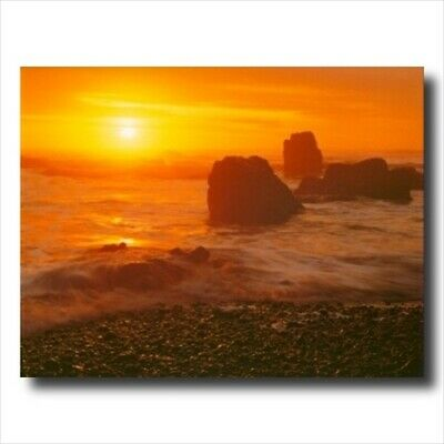 Ocean Beach Sunset Landscape Wall Picture Art Print