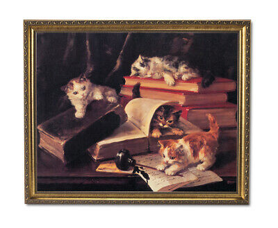 CATS KITTENS WHITE Animals Canvas Wall Art Picture Large AN326 X  MATAGA .