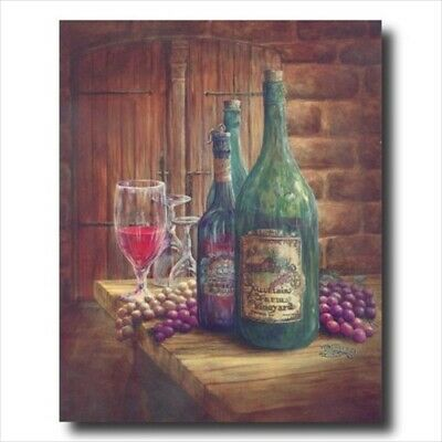 Wine Grapes Kitchen Tuscan Wall Picture Art Print