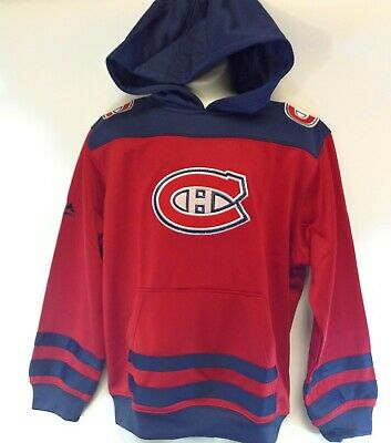 Boys Youth Kids Girls Majestic Montreal Canadiens NHL Hockey Pullover Hoodie