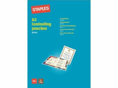 Staples Branded Laminating Premium Pouches / Sheets A6 A5 A4 A3 ALL 24H DEL