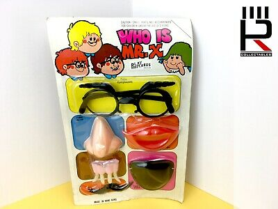 Original Vintage 1970s WHO IS MR. X fancy dress / costume / joke shop toys : MOC