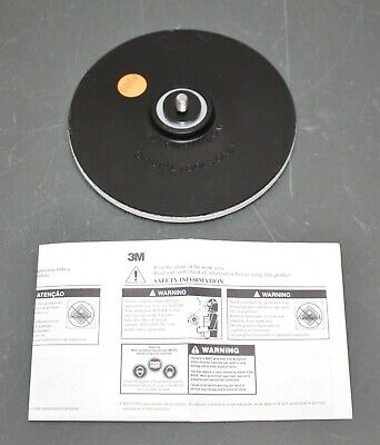"3M Disc Sander Backup Pad 906, 6"" Diameter, 5/16""-24 Threaded Shaft, Hook & Loop"