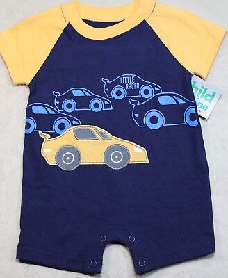 New Child Of Mine By Carter's 0-3 Month Baby Boy Little Racer Romper Outfit