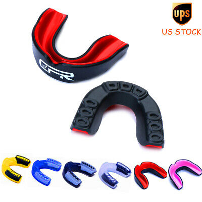 Double Side Sports Boxing Clear Mouth Piece Gum Shield Teeth Guard Protector su1