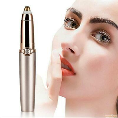 Eyebrow Hair Remover, Painless Precision Electric Eyebrow Trimmer Rose Gold