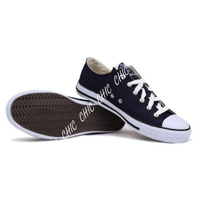 Mens Dunlop Canvas Low Top Trainers Pumps Plimsoles LaceUp Shoes UK Size 11.5