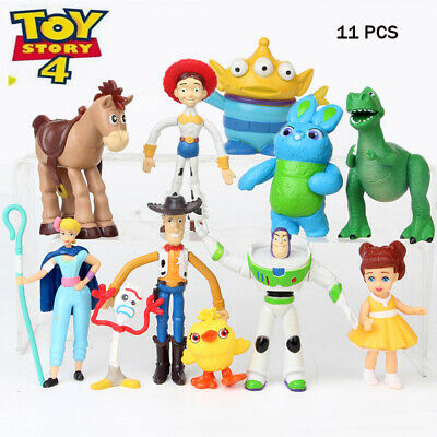 Toy Story 4 Movie Figure Set of 11 Forky Bonus Alien Bunny Cake Topper Kids Gift