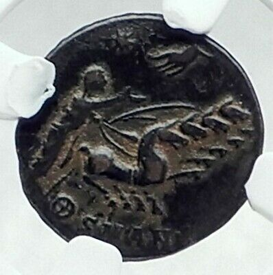 CONSTANTINE I the Great CHARIOT to GOD HAND HEAVEN Ancient Roman Coin NGC i78720