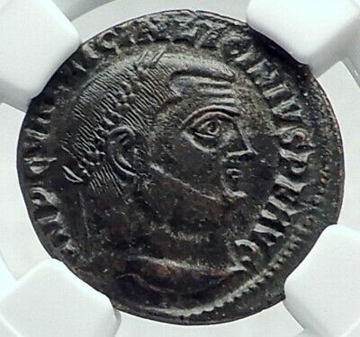 LICINIUS I Authentic Ancient 313AD Original Roman Coin JUPITER EAGLE NGC i78723