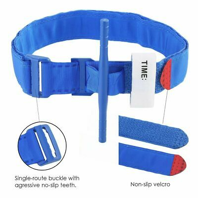 First Aid Tourniquet Medical Emergency Buckle Quick Slow Release Strap Blue New