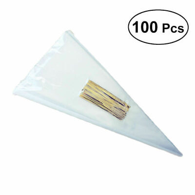 d159ed08fdd103 100pcs Clear Cellophane Cone Bag Sweet Candy Flower Packing Birthday  decoration