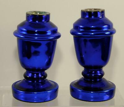 Stunning  Antique Victorian late 1800's  Cobalt Blue Mercury Glass  Hand Blown