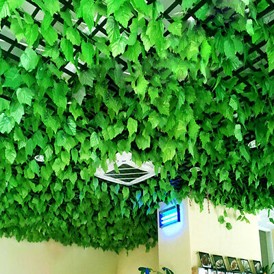 82ft Artificial Grape Ivy Leaf Garland Plants Vine Green-Fake-FoliagesDecoration