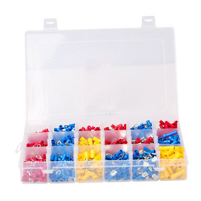 1200pcs Insulated Terminals Assorted Kit Electrical Wire Connectors Crimp Set