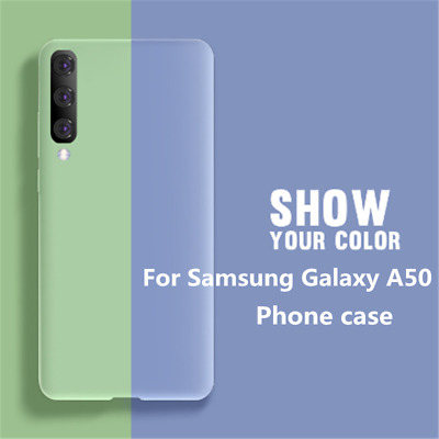 For Samsung Galaxy A50 Thin Liquid Silicone Case Hybrid Rubber Full Cover Cases