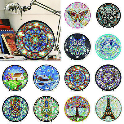 LED Night Light DIY Full Drill Diamond Painting Embroidery Special Shaped Lamp