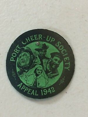 WW2 1942 Port Cheer Up Society Appeal Card Badge Pin