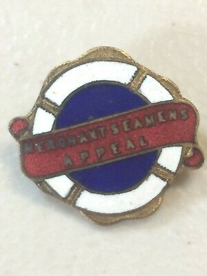 WW2 Merchant Seamen's Appeal Day Badge Pin Schlank Adelaide