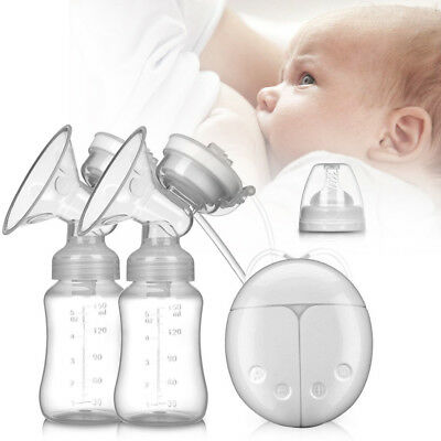 UK Electric Hand Free Breast Pump Automatic Double Intelligent Baby Feeder USB