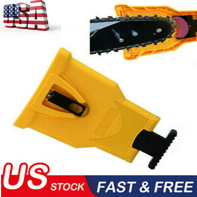 Easy File Chainsaw Teeth Chain Sharpener Tool Sharpening for Woodworking US