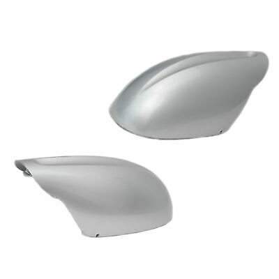 B725 For 02 03 04-06 Nissan Altima Silver KY1 Right Mirror Cap Cover Skull Cap