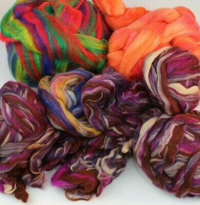 1.2kg Wool roving Top Spinning felting Craft Some hand dyed Various types OS