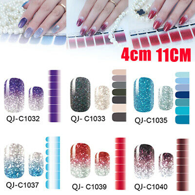 Nail Art Wraps Stickers Decals Glitter Powder Full Self Adhesive Manicure Decor